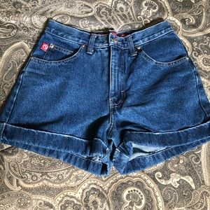 Vintage 80's No Excuses Denim Shorts 7/8 Mint!